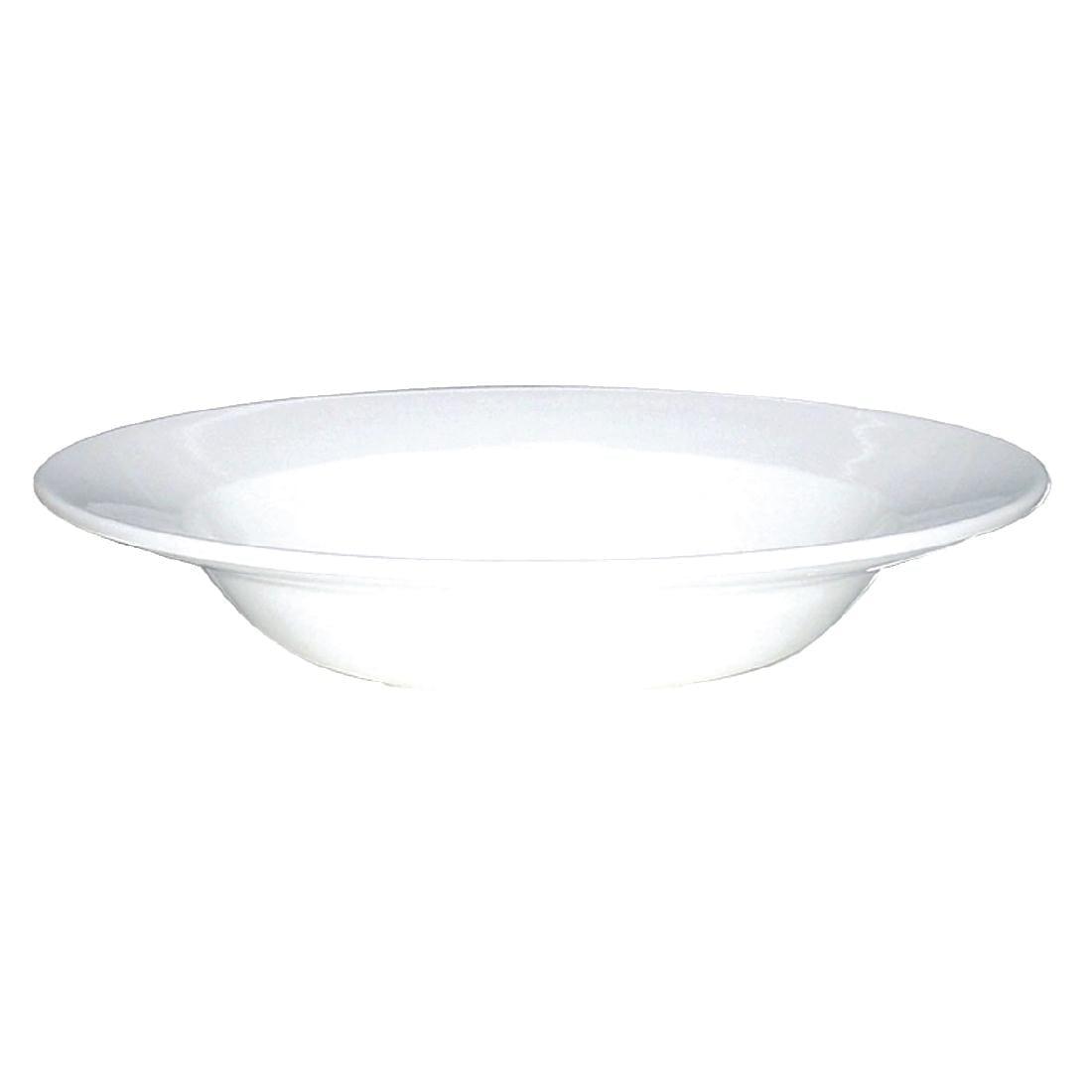 "Alchemy White Rimmed Soup Bowl - 9 1/2"" (Box 12)-0"