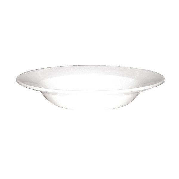 """Alchemy White Bowl - 8 3/4"""" (Box 12)-0"""