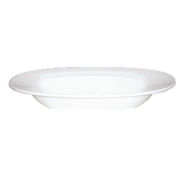"Alchemy White Oval Pasta Bowl 13"" (Box 6) (Direct)-0"