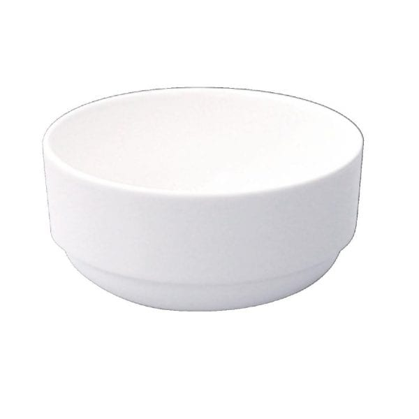 Alchemy White Consomme Bowl Unhandled - 10oz (Box 24) (Direct)-0