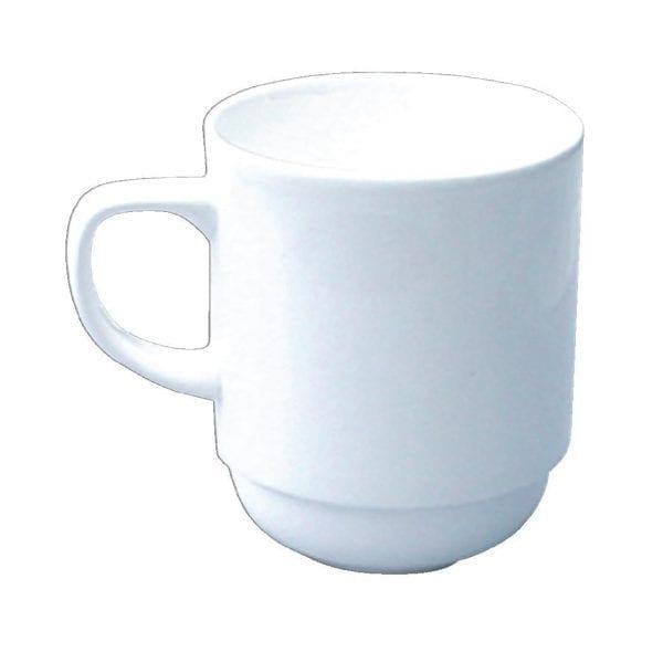 Alchemy White Mug Stacking 10oz (Box 24) (Direct)-0