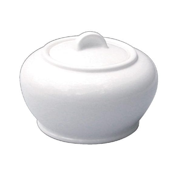 Alchemy White Sugar Bowl Covered (Box 6) (Direct)-0