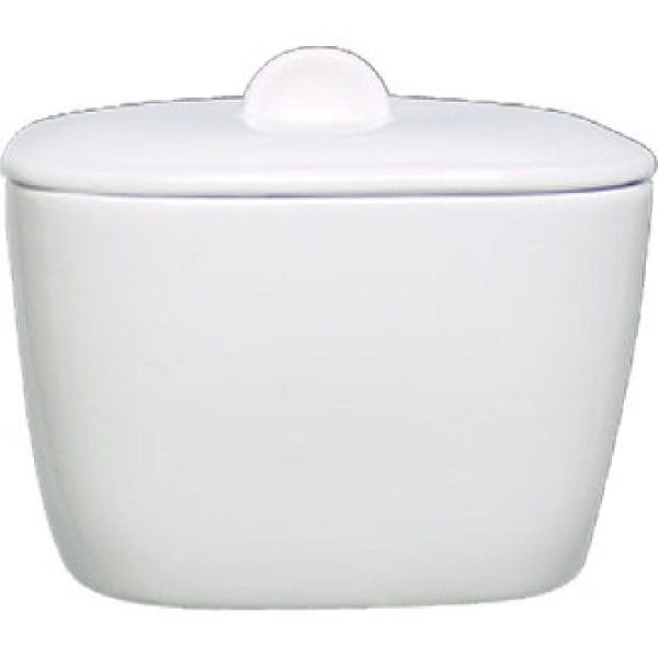 Alchemy White Square Bowl Covered (Box 6) (Direct)-0
