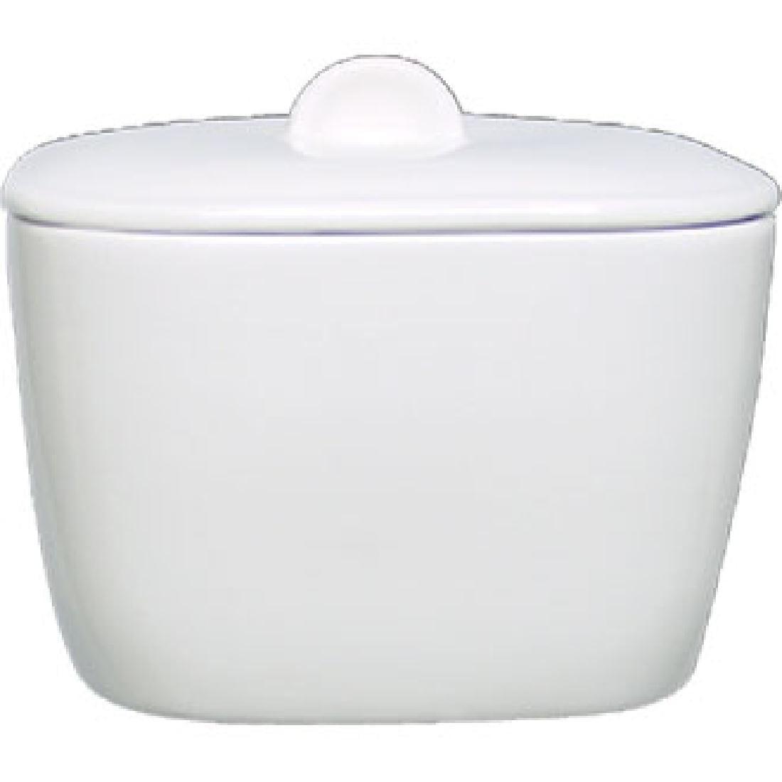 Alchemy White Square Bowl Covered (Box 6) (Direct)-0