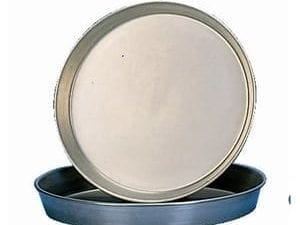 "Black Iron 1 1/2"" deep Pizza Pan - 7""-0"