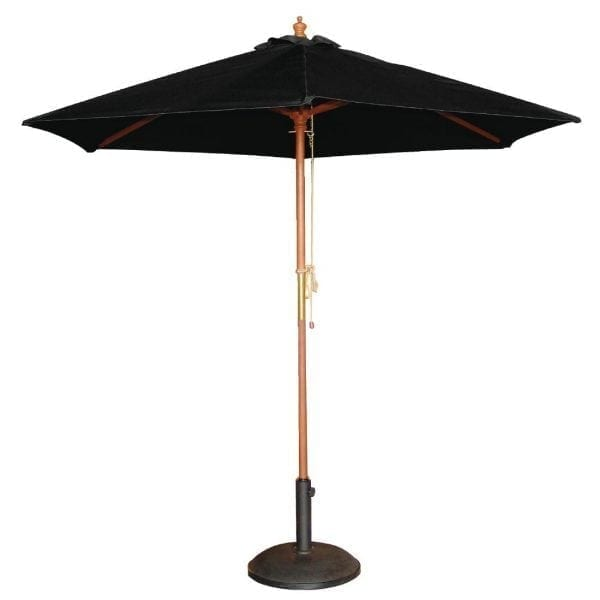 Bolero Black Round 2500mm Dia Pulley Parasol-0