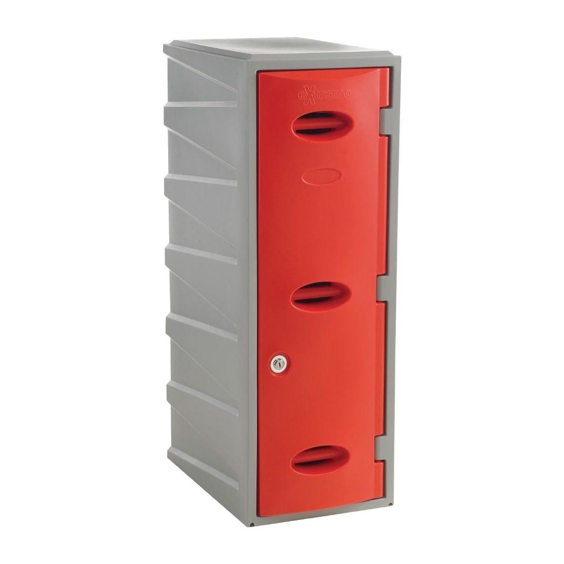 Extreme Modular Plastic Locker - 900mm high Red Camlock (Direct)-0