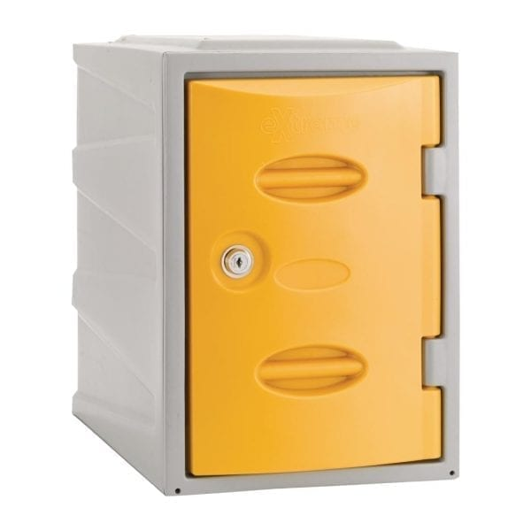 Extreme Modular Plastic Locker - 450mm high Yellow Camlock (Direct)-0