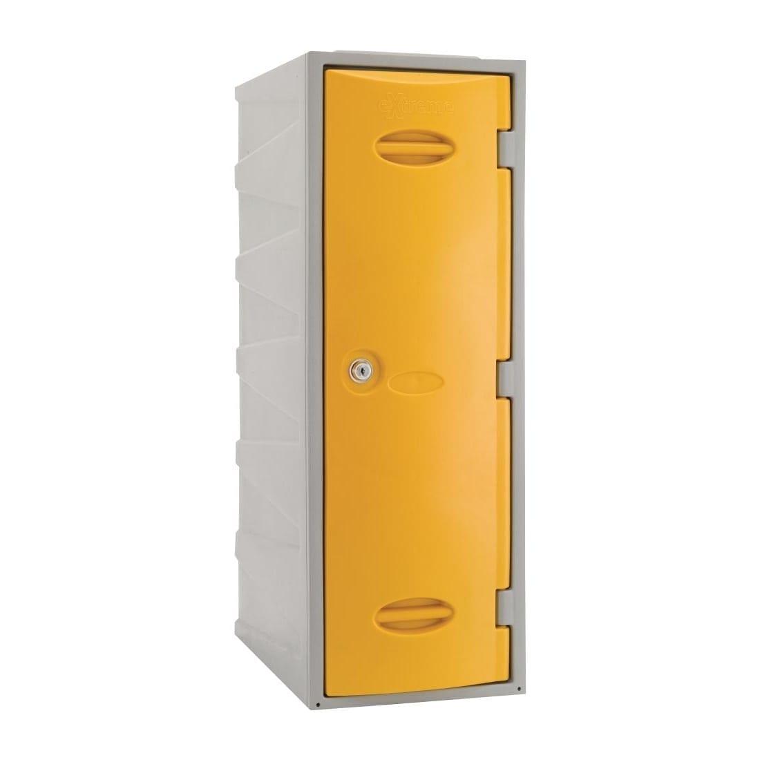 Extreme Modular Plastic Locker - 900mm high Yellow Camlock (Direct)-0