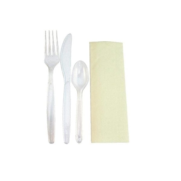 Deluxe Meal Pack Heavyweight Knife Fork Spoon & Napkin (Box 200)-0