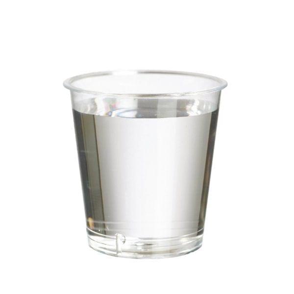 Disposable Shot Glass Polystyrene - 30ml to brim 20ml to line (Box 1000)-0