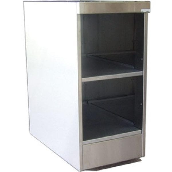 Falcon Pro-Lite Open Shelf Unit with Back Panel - 300mm (Direct)-0