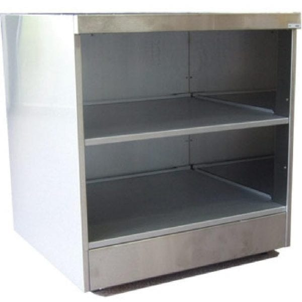Falcon Pro-Lite Open Shelf Unit with Back Panel - 600mm (Direct)-0