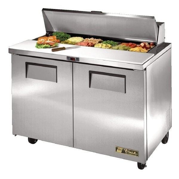 True Salad Prep Counter 2 doors 12x1/6 GN pan top-0