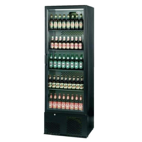 Infrico Full Hght Back Bar Chiller Single Door Charcoal with Black Door (Direct)-0