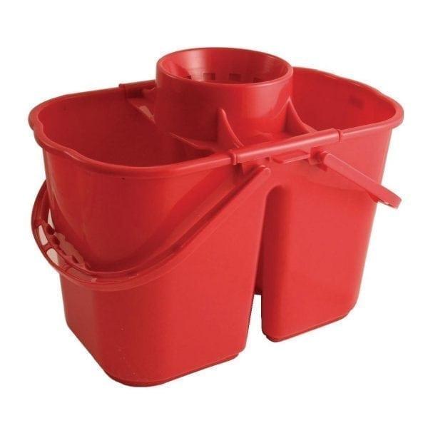 Double Mop Bucket & Wringer Red