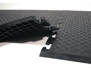 Rubber Safe Lock Matting with Black Rubber Ramps End (Direct)-0