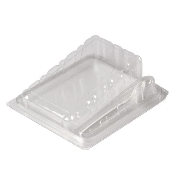 Hinged Cake Slice - 125x85x48mm with Spork (Pack 250)-0