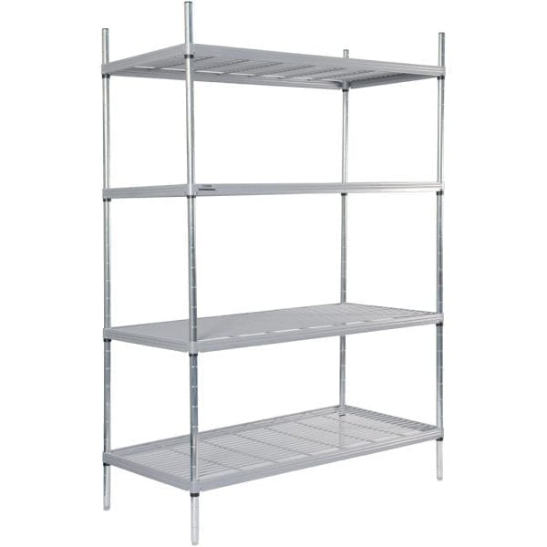 Craven 4tier Nylon Coated Wire Shelving - 1175x490x1700mm (Direct)-0