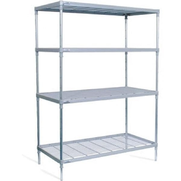 Craven 4tier Nylon Coated Wire Shelving on castors - 875x390x1800mm (Direct)-0
