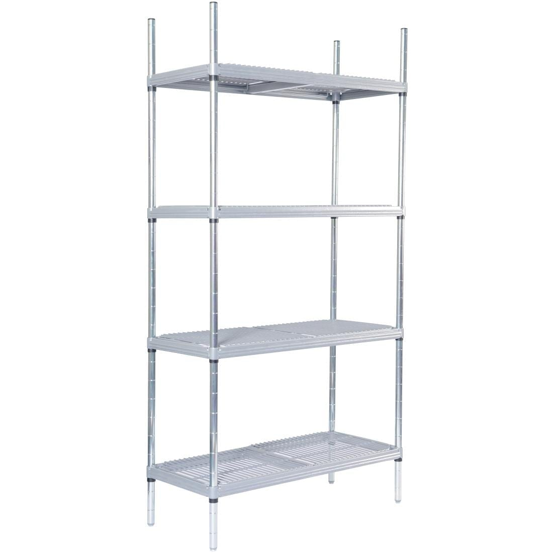 4tier Nylon Coated Wire Shelving with Loose Infill Pads 1475x590x1700mm
