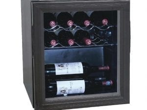 Polar Wine Cooler - 11 Bottles Glass Door Metal Racks-0