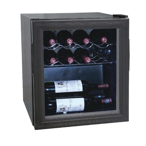 Polar Wine Cooler - 11 Bottles Glass Door Metal Racks-0