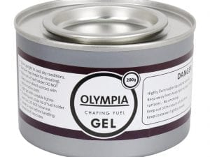 Olympia Chafing Gel Ethanol - 200g Tin (Pack 12)-0