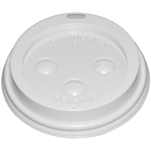 Fiesta Lid for Hot Cups White - 12/16oz (Sleeve 50)-0