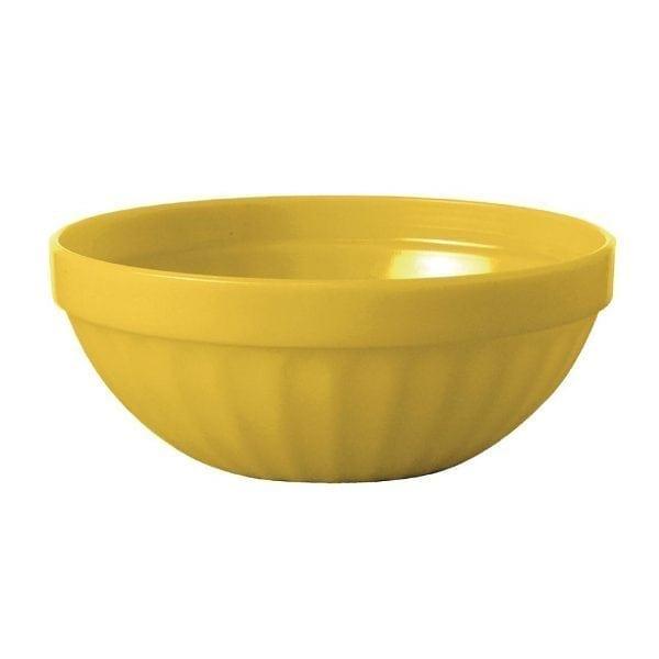 """Kristallon Polycarbonate Bowl Yellow - 190ml 6.7oz 102mm 4"""" (Box 12)-0"""