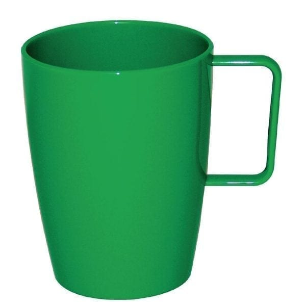 Kristallon Polycarbonate Handled Beaker Green - 284ml 10oz (Box 12)-0