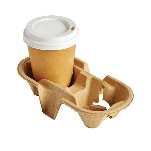 Moulded Pulp 2 Cup Carry Tray (Box 360)-0
