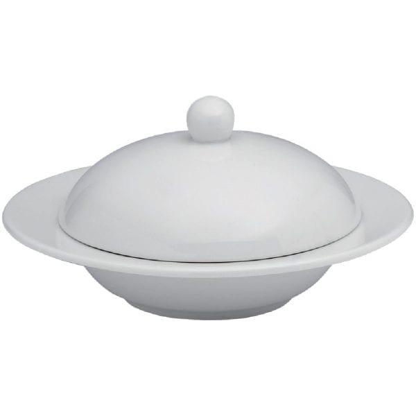 Elia Glacier Fine China Covered Butter Dish - 115mm (Box 4) (Direct)-0