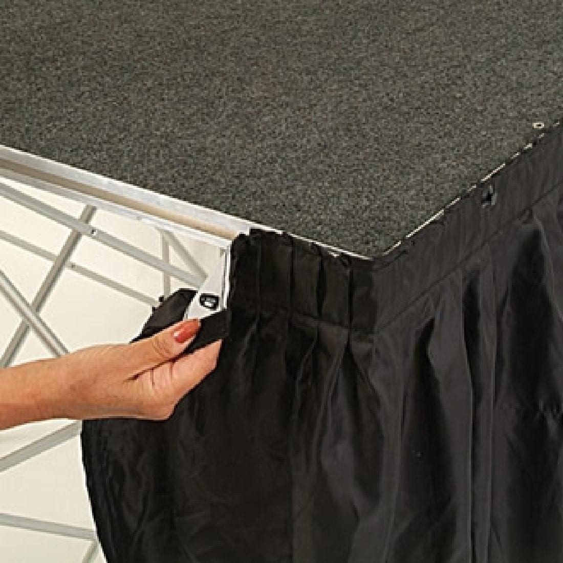 Valance 1m x 630mm deep Black for Ultralight Staging (Direct)-0