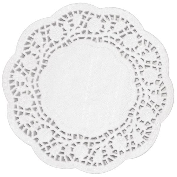 "Fiesta Paper Doily Round - 240mm 9 1/2"" dia (Pack 250)-0"