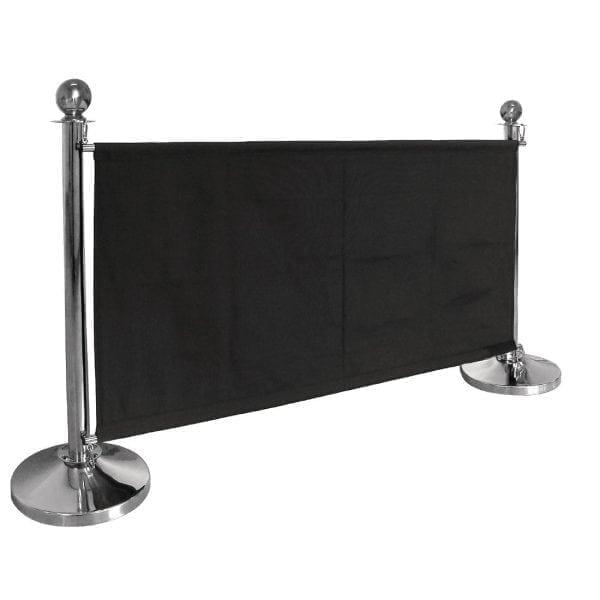 Bolero Black Banner with St/St Fixings-0
