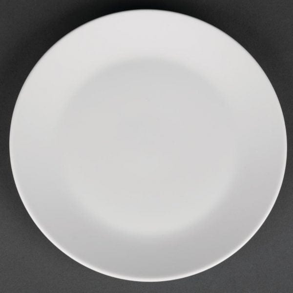 "Royal Porcelain Classic Coupe Plate White - 170mm 6.7"" (Box 12)-0"