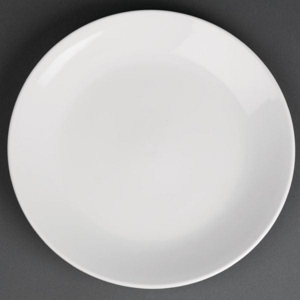 """Royal Porcelain Classic Coupe Plate White - 260mm 10 1/4"""" (Box 12)-0"""