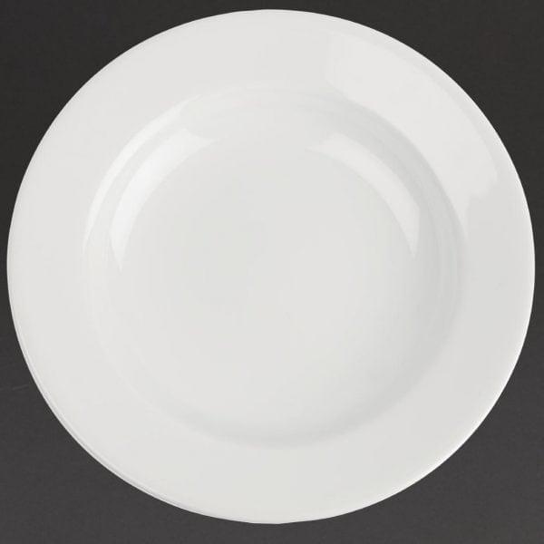 "Royal Porcelain Classic Wide Rim Plate White - 160mm 6.3"" (Box 12)-0"