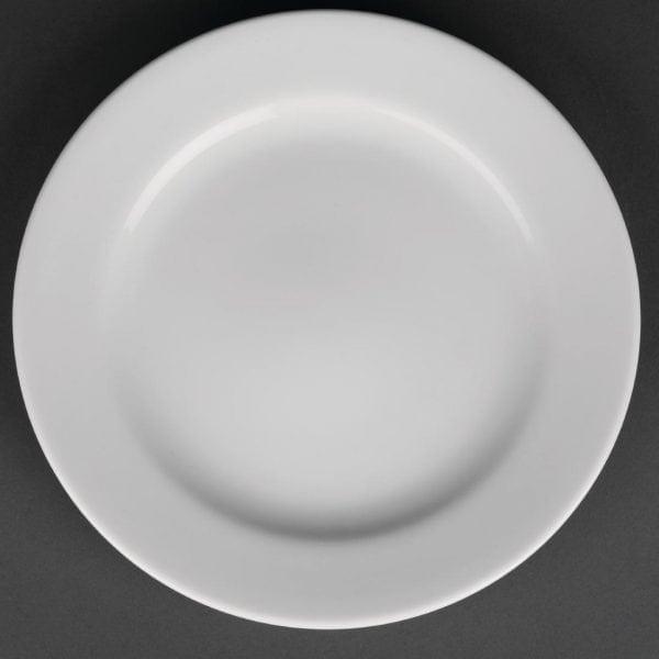 "Royal Porcelain Classic Wide Rim Plate White - 210mm 8.3"" (Box 12)-0"