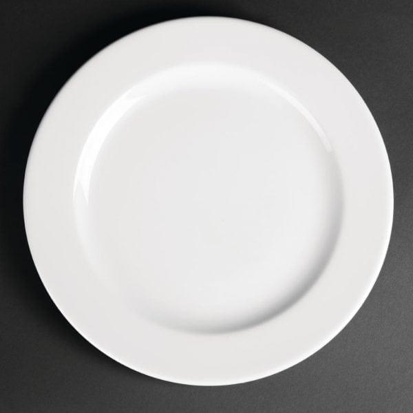 "Royal Porcelain Classic Wide Rim Plate White - 10.25"" 260mm (Box 12)-0"