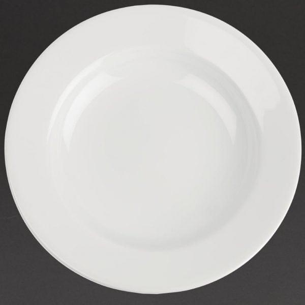 "Royal Porcelain Classic Wide Rim Plate White - 11"" 280mm (Box 12)-0"