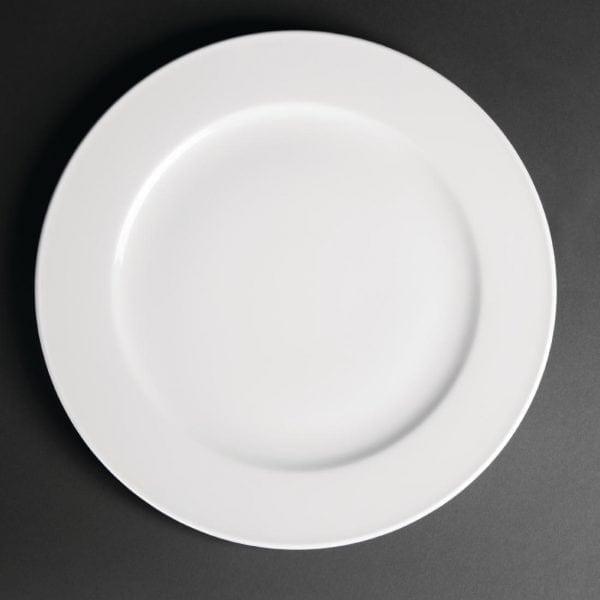 "Royal Porcelain Classic Wide Rim Plate White - 310mm 12.2"" (Box 12)-0"