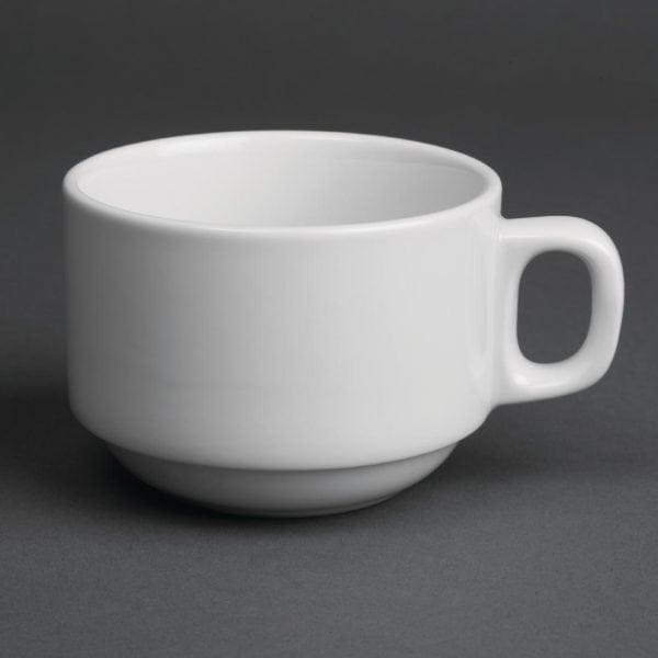 Royal Porcelain Classic Stacking Teacup White - 7oz 200ml (Box 12)-0
