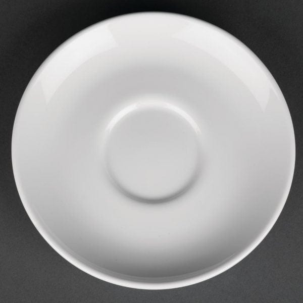 "Royal Porcelain Classic Cappuccino Saucer White - 150mm 6.3"" (Box 12)-0"