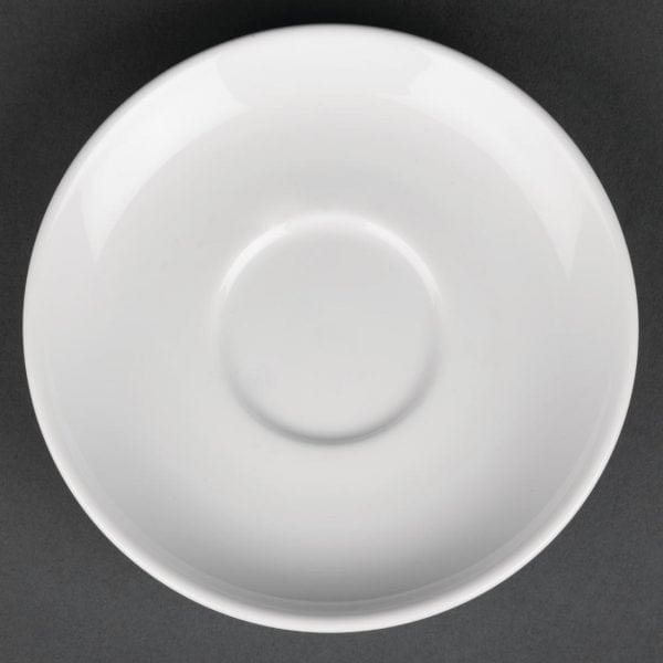 Royal Porcelain Classic Coupe Saucer White - 125mm (Box 12)-0