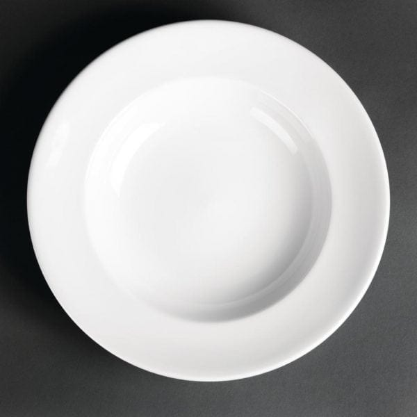 "Royal Porcelain Classic Pasta Plate White - 260mm 10.25"" (Box 12)-0"