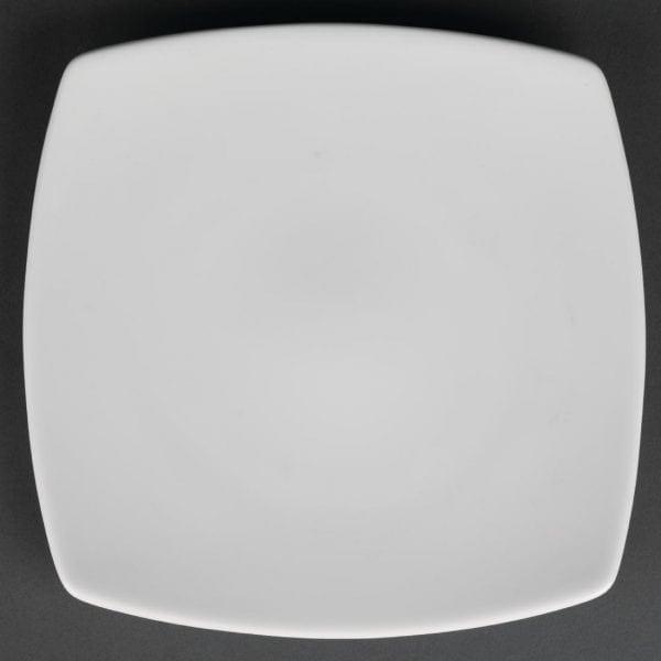 "Royal Porcelain Classic Kana Square Coupe Plate White - 9.5"" 240mm (Box 12)-0"