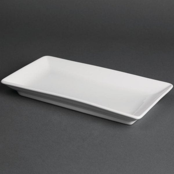 Royal Porcelain Classic Kana Rectangular Dish White - 230x135mm (Box 12)-0