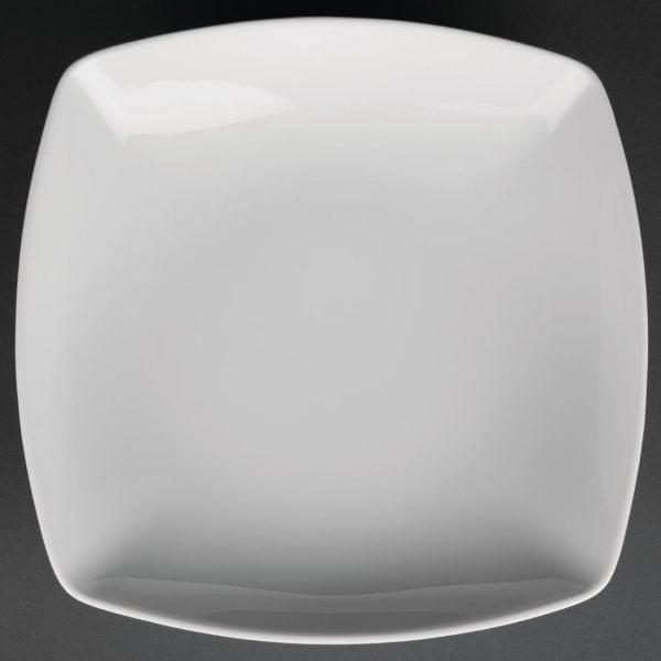 """Royal Porcelain Classic Kana Soup Plate Square White - 8.3"""" 210mm (Box 12)-0"""